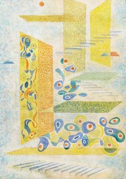 Artwork by Gordon McKinley Webber, Abstract Composition, Mexico #4