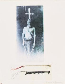 Artwork by Carl Beam, Cross/ Crow quirt