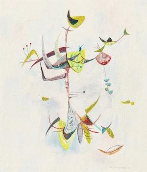 Artwork by William John Bertram Newcombe, Spring Growth