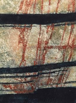 Artwork by Edward John Bartram, Glacial Intrusions (Precambrian Shield Series); Banded Rock (Canadian Shield Series)