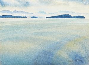 Artwork by Doris Jean McCarthy, Landscape (Islands and Clouds)