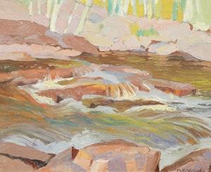 Artwork by Mary Evelyn Wrinch, Temagami Stream