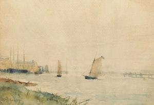 Artwork by James MacDonald Barnsley, River Boats