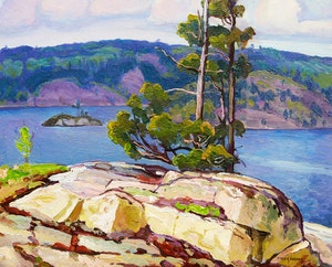 Artwork by Frederick Stanley Haines, La Cloche Mountains, Frood Lake