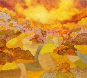 Artwork by Allan Edward Moak, Golden Harvest