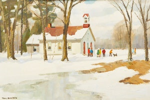 Artwork by Thomas Keith Roberts, Sunny March Day - German Mills School