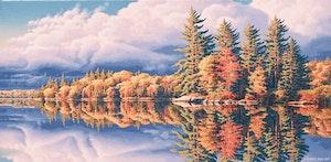 Artwork by E. Robert Ross, Rock Lake, Algonquin Park