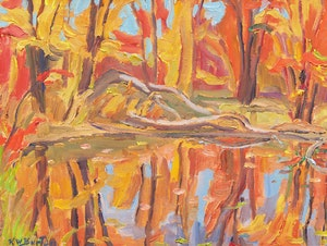 Artwork by Ralph Wallace Burton, Reflections in a Pond off the North Gower - Smith Falls, Ont.