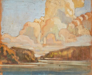 Artwork by Gerald Milne Moses, Five Landscape Studies