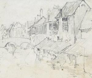 Artwork by Manly Edward MacDonald, Pont de Minimes, Chartres