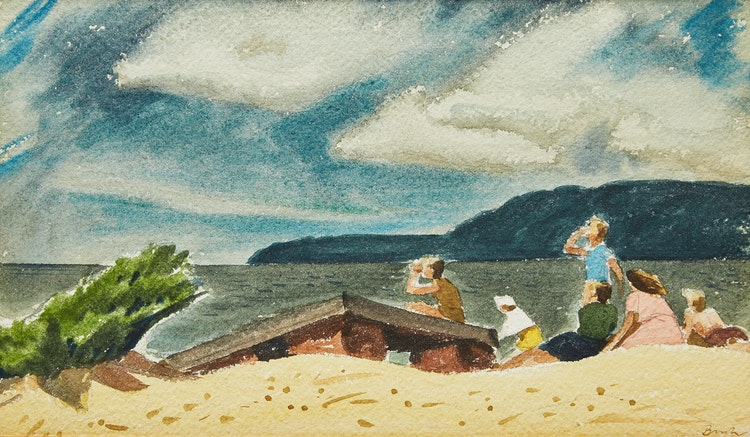 Artwork by Jack Hamilton Bush,  On the Beach