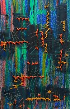 Artwork by Guy Michon, Lanternes