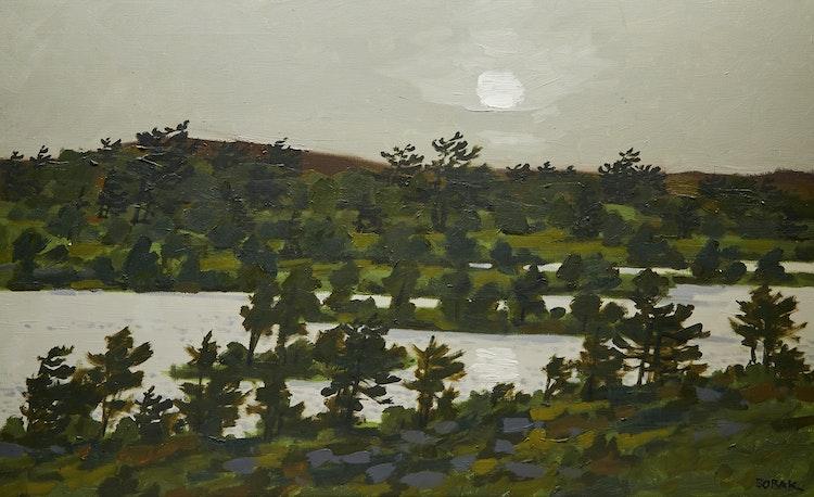 Artwork by Bruno Joseph Bobak,  Sunrise at Norton