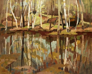Artwork by Hilton MacDonald Hassell, May Reflections (Speyside)
