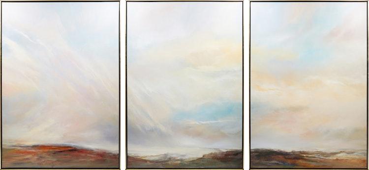 Artwork by Ernistine Tahedl,  Vast Sky Triptych