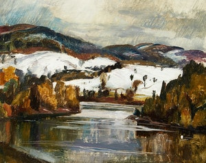 Artwork by Lawrence Arthur Colley Panton, Early Snow on the Gatineau
