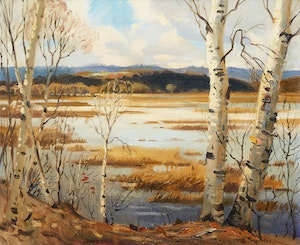 Artwork by Frank Shirley Panabaker, By the Shoreline
