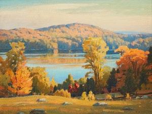Artwork by Frederick Henry Brigden, Mountain Lake - Haliburton